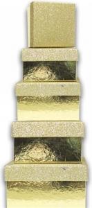 Scatola rettangolare glitter dorata