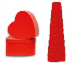 Scatola a forma di cuore rossa