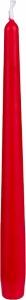 Candela conica 250mm rosso rubino