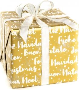 Carta regalo eco Merry Christams in confezione da 25 fogli. Vendita all'ingrosso e on-line
