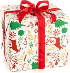 Carta da regalo con fantasia renne, confezione da 25 fogli. Vendita all'ingrosso e online