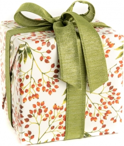 Carta regalo snow berries in confezione da 25 fogli. Vendita all'ingrosso e online