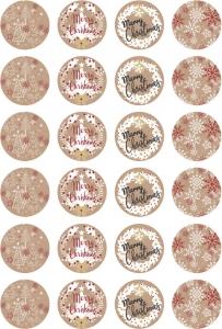 Etichette Merry Christmas mix in confezione da 240 pezzi. Vendita all'ingrosso e online