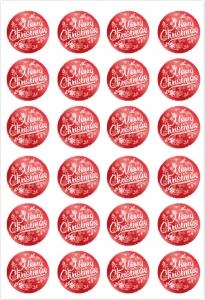 Etichette Merry Christmas rosse in confezione da 240 pezzi. Vendita all'ingrosso e online