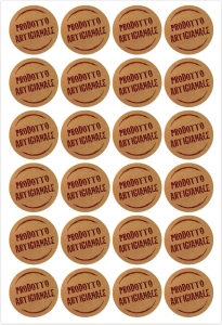 Etichette prodotto artigianale in confezione da 240 pezzi. Vendita all'ingrosso e online