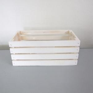 Cassetta in legno bianca. Disponibile in tre misure. Vendita all'ingrosso e online