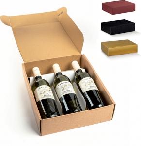 Scatole cantinetta per 3 bottiglie - Vendita online all'ingrosso b2b