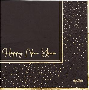 Tovaglioli happy new years in confezione da 16 pezzi. Vendita all'ingrosso e online