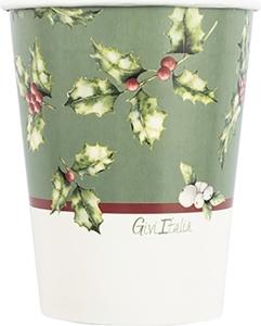 Bicchieri in carta Christamas Time in confezione da 8 pezzi. Vendita all'ingrosso e online