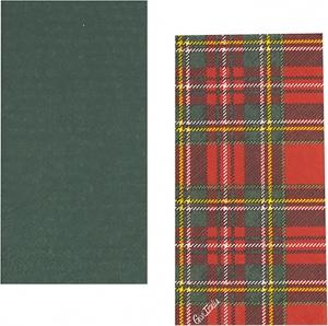 Tovaglioli Twin tartan scozzese in confezione da 16 pezzi. Vendita all'ingrosso e online