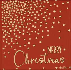 Tovaglioli Merry Christmas in confezione da 16 pezzi. vendita all'ingrosso e online