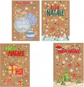 Biglietto Buon Natale assortiti. Vendita all'ingrosso e online