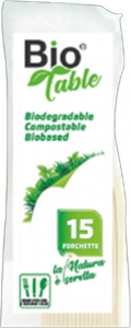 forchette Biodegradabili BioTable (15 Pezzi)- Vendita online all'ingrosso b2b