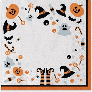 Tovaglioli halloween. Confezione da 20 pezzi. vendita all'ingrosso e online