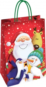 Shopper Natalizio Fantasia Babbo Natale e Amici - Vendita online all'ingrosso b2b