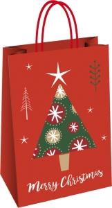 Shopper Natalizio Fantasia Albero di Natale - Vendita online all'ingrosso