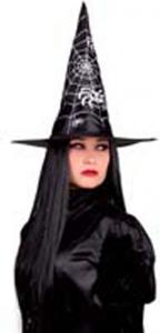 Cappello strega con stampa ragnatela. Vendita all'ingrosso e online