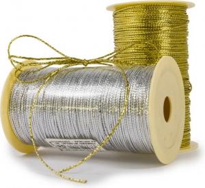 Cordino tubolare, oro e argento. Vendita all'ingrosso e online