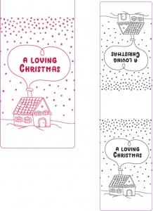 "Etichette Lunghe Linea ""a Loving Christmas"" (25 Pezzi) - Vendita online all'ingrosso"