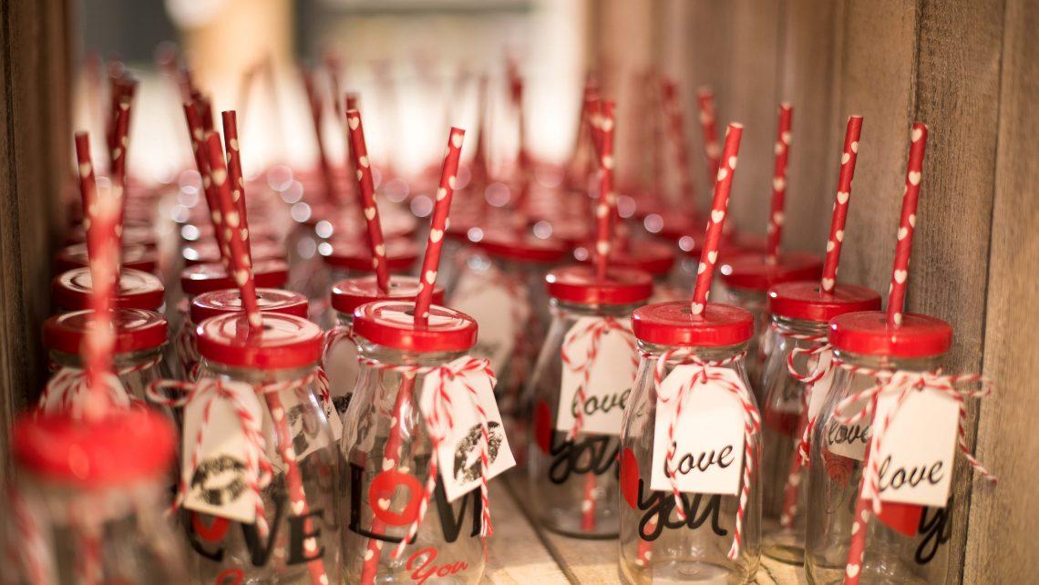 Speciale San Valentino 2018. BIcchiere decorato.