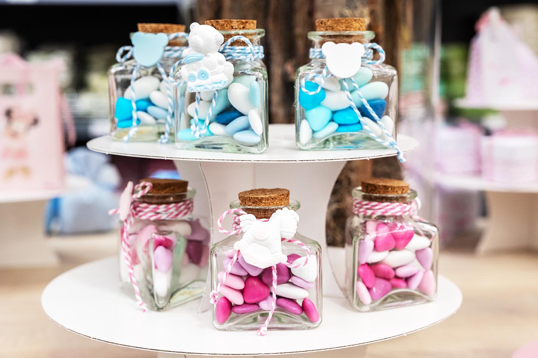 Confetti colorati per battesimi e nascite