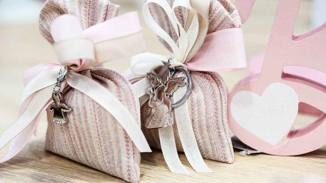Sacchetti portaconfetti Dudù in rosa