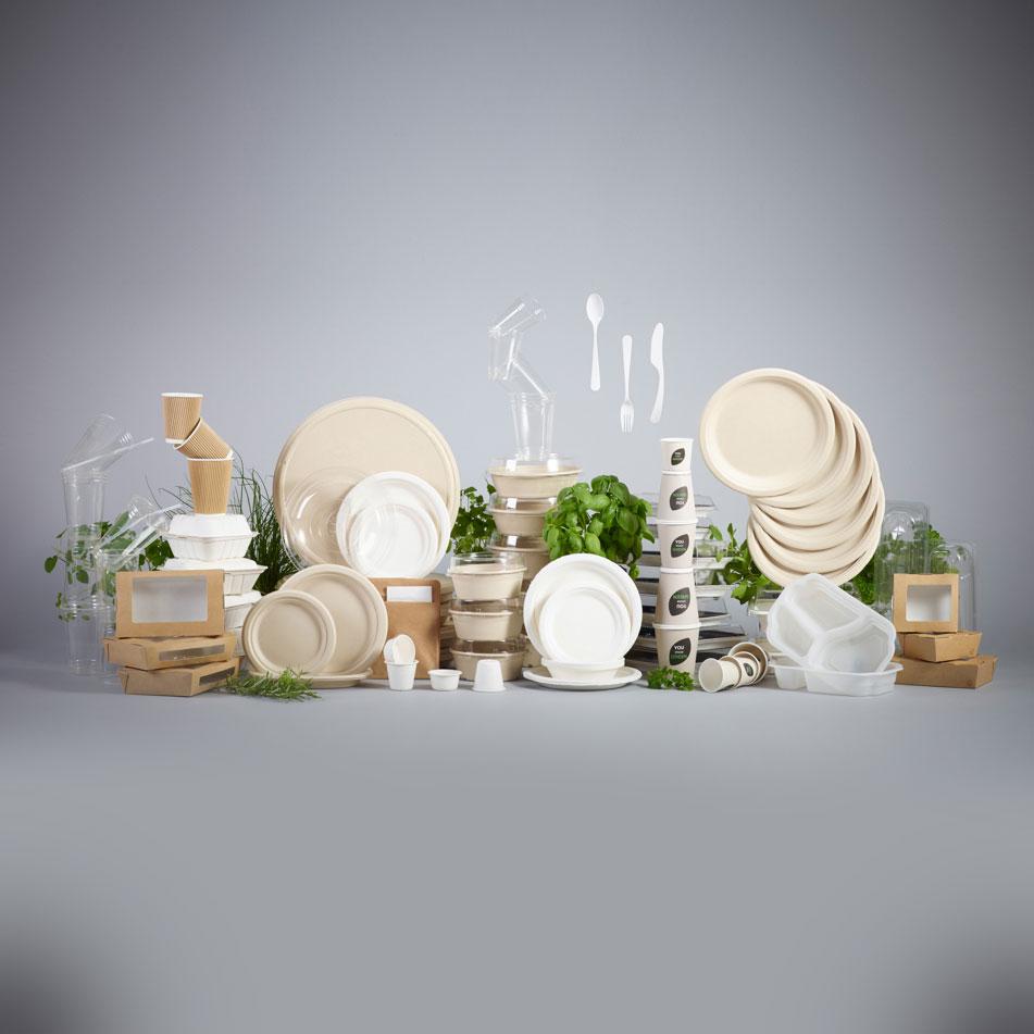 Packaging ecosostenibile in materiali ecologici, riciclati o riciclabili per il food delivery e il take-away